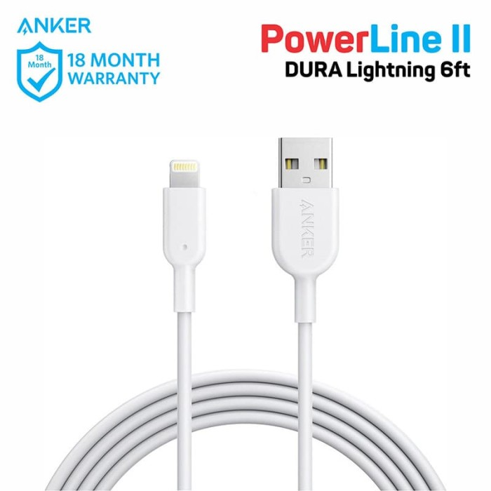 Update Harga PowerLine DURA II 6ft Lightning White A8433H21