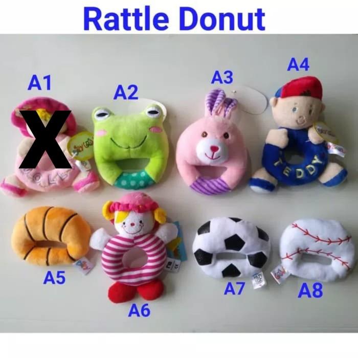 harga Mainan bunyi rattle donat / ring rattle donut carter Tokopedia.com