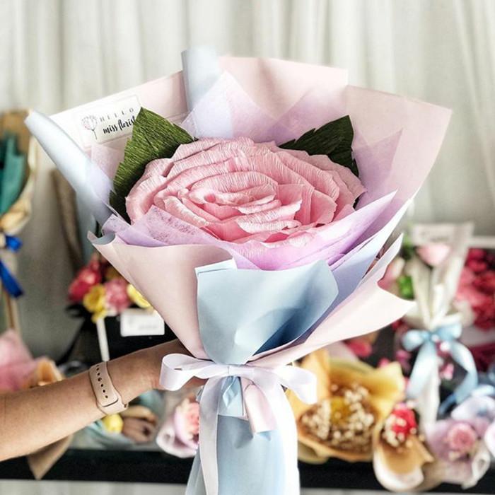 Jual Buket Giant Rose Bunga Kertas Jakarta Barat Cyle Studio Tokopedia