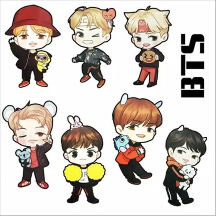 Jual Kpop Bts Bt21 Twice Wanna One Exo Blackpink Diy Stiker Kartun