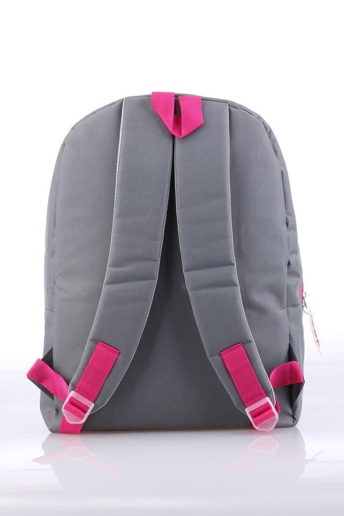 Tas Ransel Backpack Sekolah Anak Perempuan Abu Pink Catenzo CCL 173 .