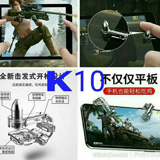 Jual PUBG #k10 R1L1 for tablet iPad gaming joystick controller - Kota  Surabaya - Silvia Cell Surabaya | Tokopedia