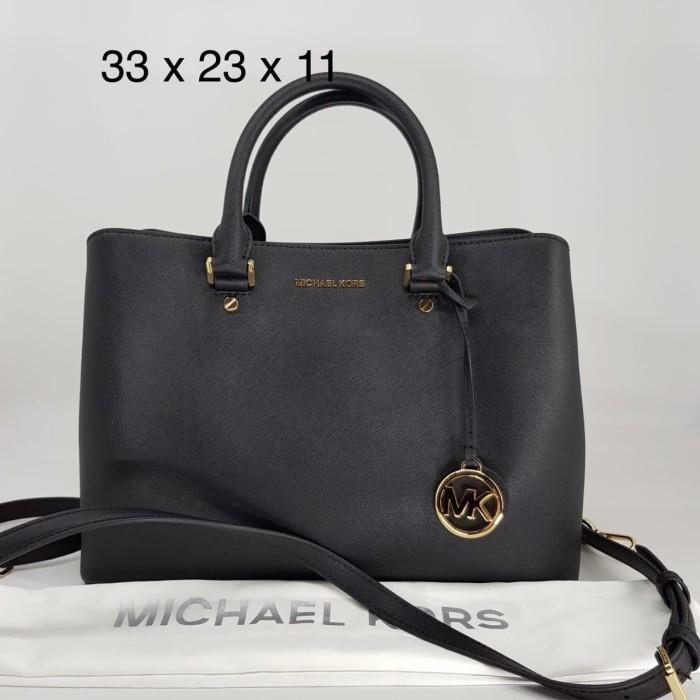f541f228c6a Jual Tas Authentic Original MICHAEL KORS Savannah Large Asli - Black ...