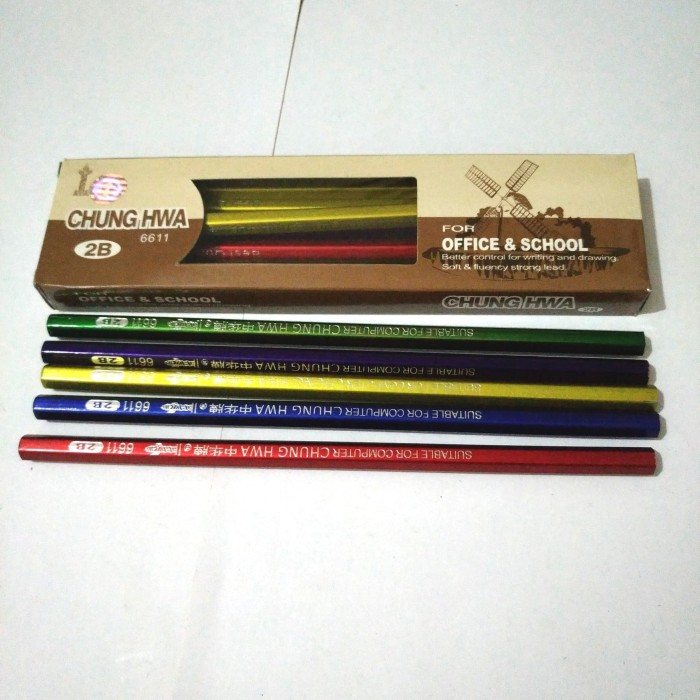 CHUNGHWA Drawing Pencils 2B 12pcs