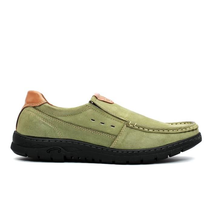 harga Cavallero trafo exclusive leather green sepatu casual pria - hijau tosca 42 Tokopedia.com