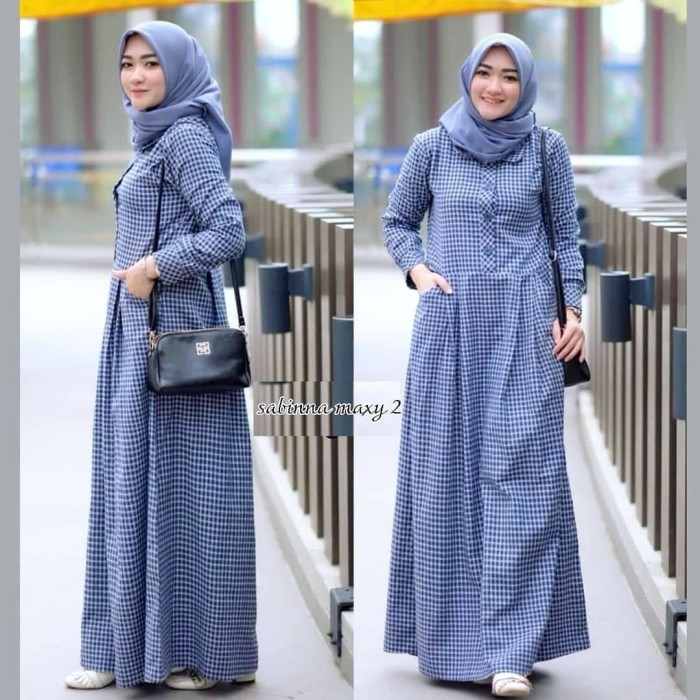 Harga Terbaru Gamis Wanita Muslim Syari Maxi Murah Jubah Dress Cewek ... 0e4023666c