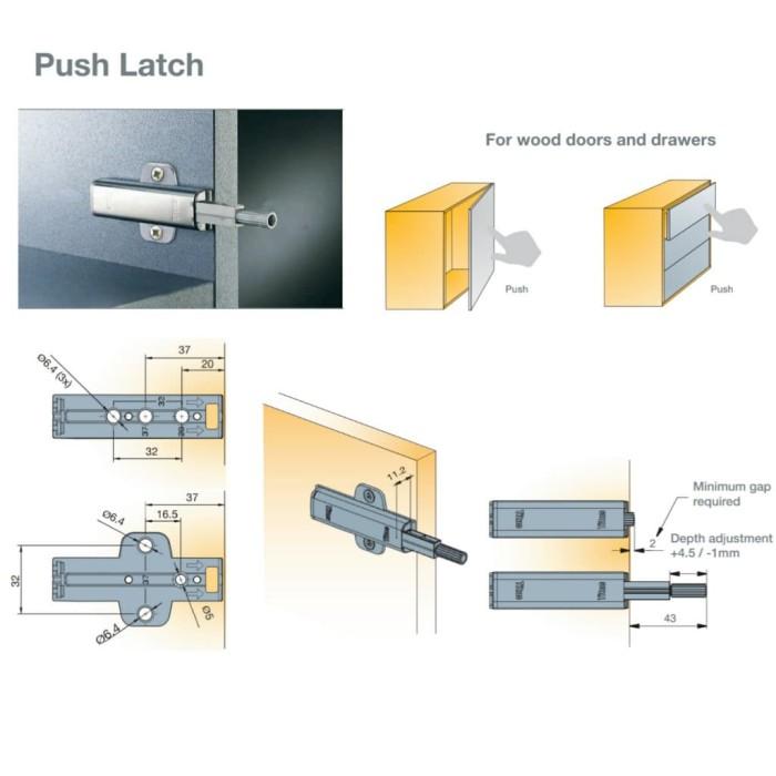 Jual Push latch - K1 - Titus - Kota Tangerang Selatan - Titus Tekform  Indonesia | Tokopedia