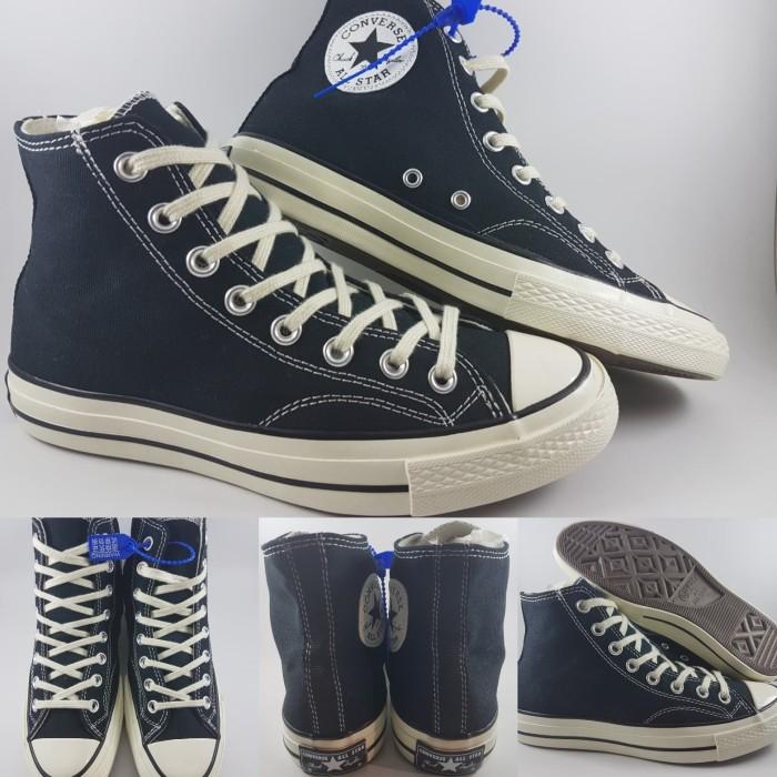Jual Sepatu Kets Converse Allstar 70s Canvas High Black White Hitam ... e4408f5d19