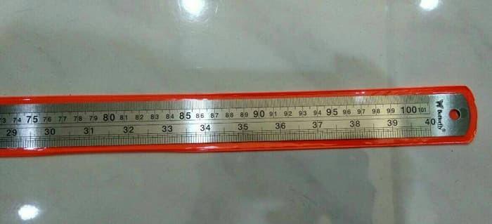 Penggaris Besi / Stainless Steel Ruler 100cm Butterfly