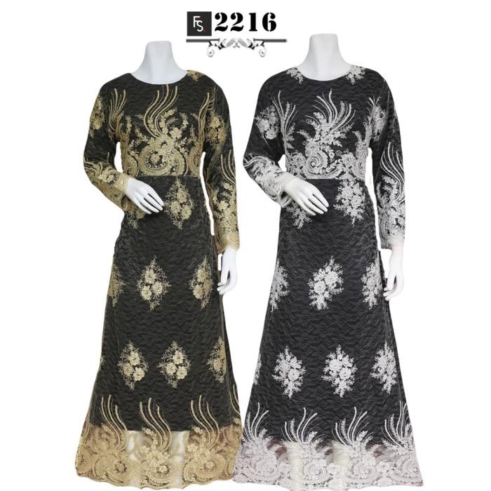 Jual Baju Brokat Murah Sale Stock Gamis Brokat Hitam Fs2216 My. Pakaian  Muslimah Model Terbaru Trend Fashion Wanita Indonesia 10a22340ea