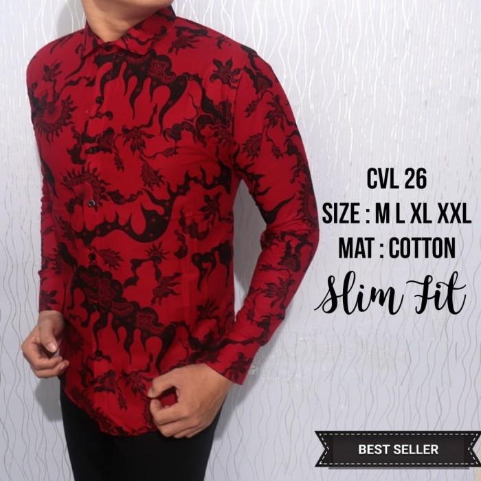 92 Gambar Baju Batik Pria Merah Paling Bagus