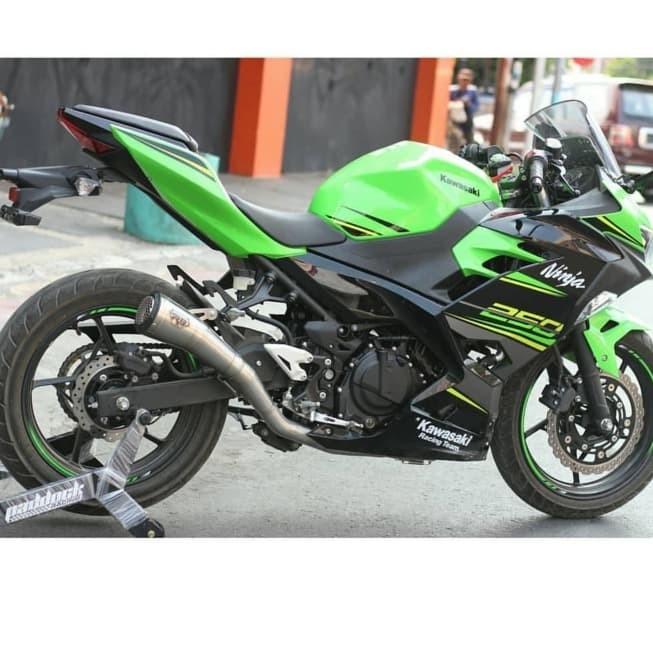 Knalpot R9 Gp All New Kawasaki Ninja 250 fi 2018 Stainless Carbon