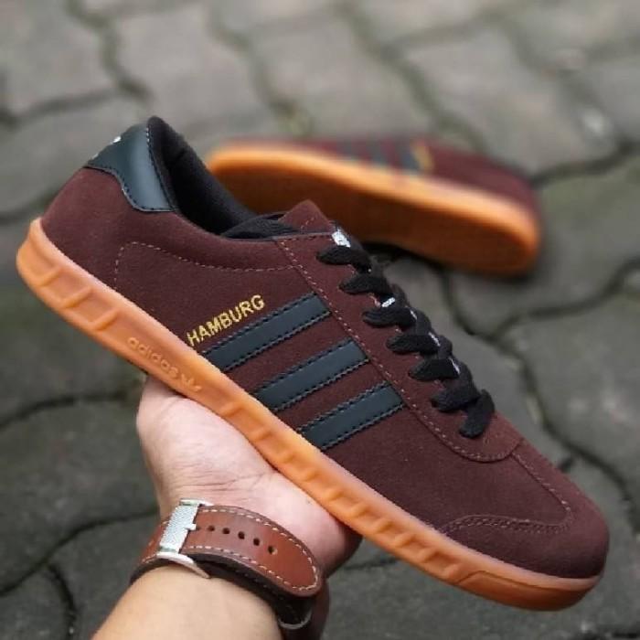 Adidas Hamburg Casual Street Sepatu Sneakers Pria Sepatu Sekolah