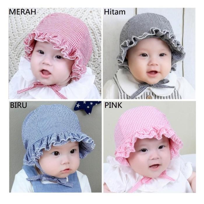 Topi Bayi Polos / Topi Anak Cewek / Topi Bayi Cantik Terlaris