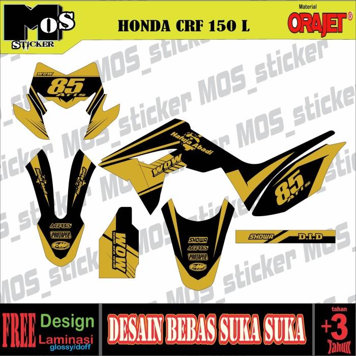 Jual Decal Stiker Motor Honda Crf 150l Full Body Desain Bebas Kab Grobogan Mos Sticker Tokopedia