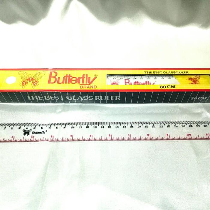 Foto Produk Penggaris 30 cm butterfly murah dari dilayashop