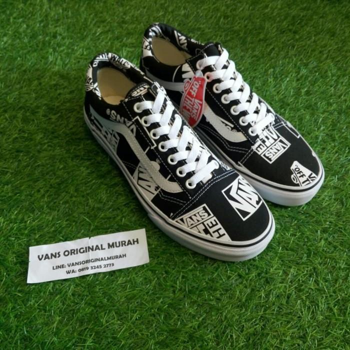 50d3378a Jual Vans Old Skool Logo Mix Black True White - Kota Bandung - Vans  Original Murah | Tokopedia