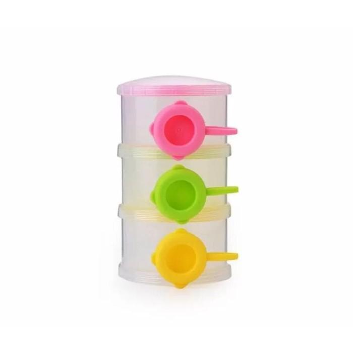 Gaya Pumpee Stylish Milk Powder Container 3 Layer - Tempat Susu