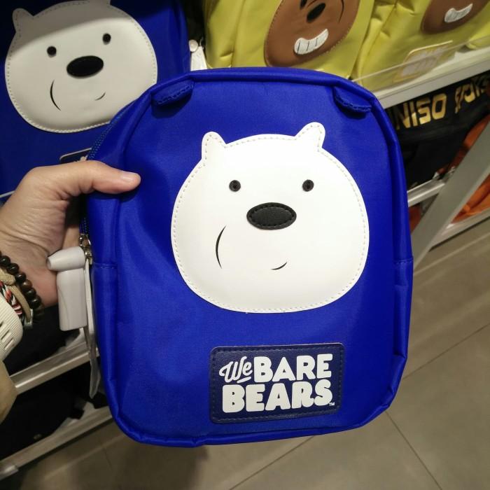 18be8962389a39 BARU MINISO WE BARE BEARS CHILDREN'S BACKPACK ICE BEAR TAS RANSEL KECI