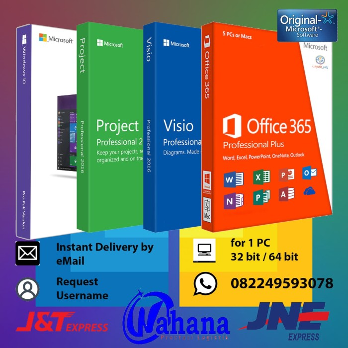 harga Paket lengkap windows 10 pro office 365 visio project Tokopedia.com