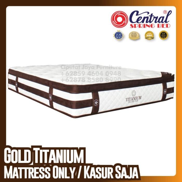 Harga Jual Central New Gold Titanium - SpringBed - Ukuran 180 X 200 ... d8d18b3e47