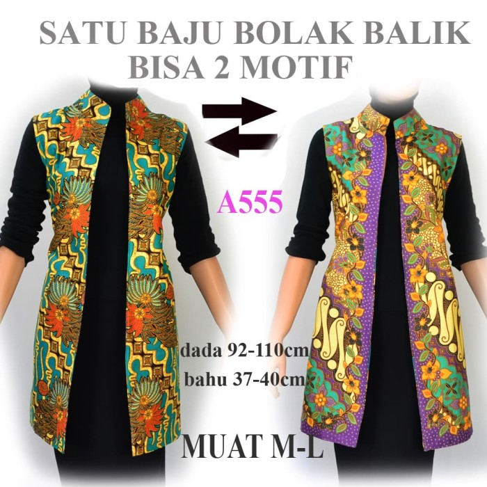 ... harga Batik wanita outer atasan bolero batik vest a478 Tokopedia.com a9d6426ca1