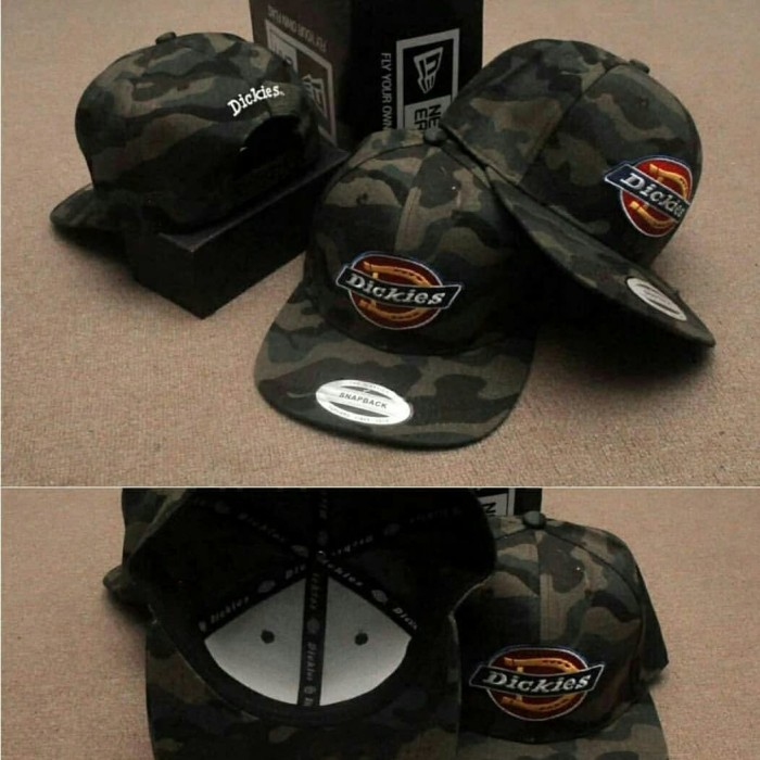 ba248ea70a7 Jual Topi Snapback Dickies Army camo import - Markotop Snapback ...