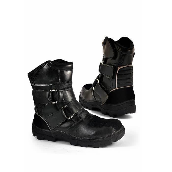 Sepatu Boots Pria BRANDED  Sepatu Boot Cowok Keren  Sepatu Touring SIX cc0577ae88