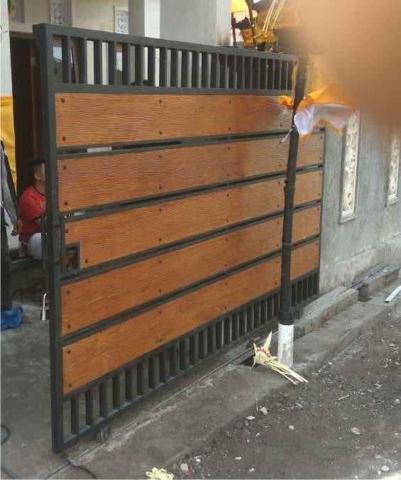 Jual Pintu Gerbang Lisplang Kota Denpasar Bengkel Las Bali