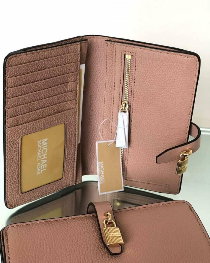 4d308a2acfa01 Jual Dompet Michael Kors Original   MK Adele Slim Bifold Wallet Fawn ...