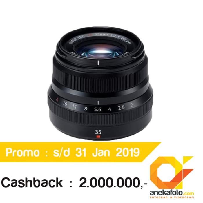 CASHBACK Fujifilm XF 35mm f/2 R WR Lens - Hitam