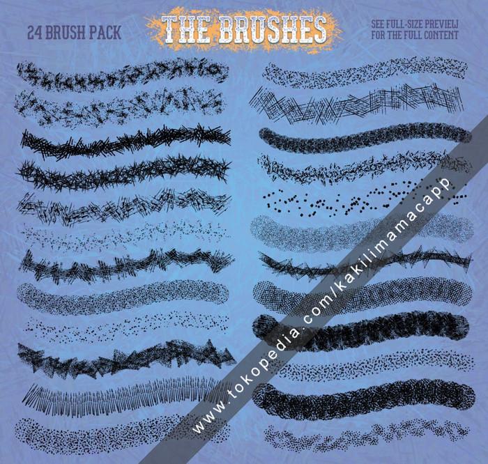 Jual Grit, Grain & Grunge Brushes for Illustrator - Kaki Lima Mac App |  Tokopedia