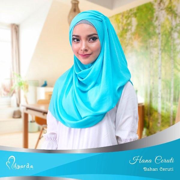 PROMO hijab hana ceruti/ kerudung instan/ jilbab modis