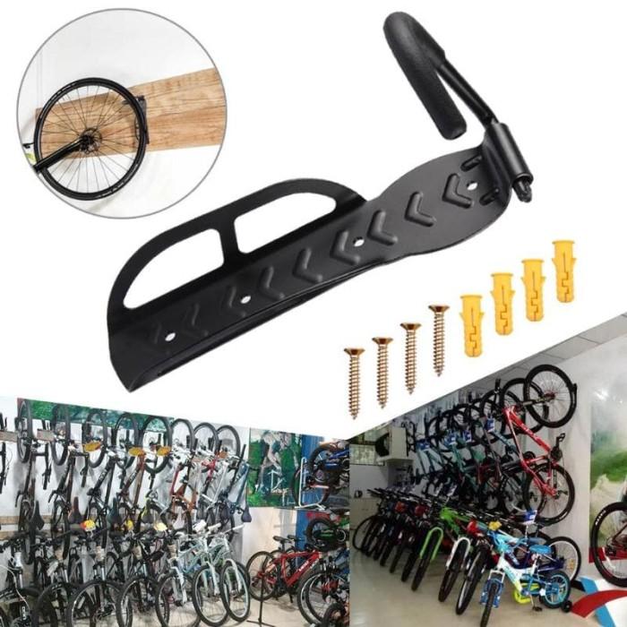 Foto Produk Gantungan Dinding Sepeda Bike Wall Hook Hanger - 56921 - Black dari hittastore