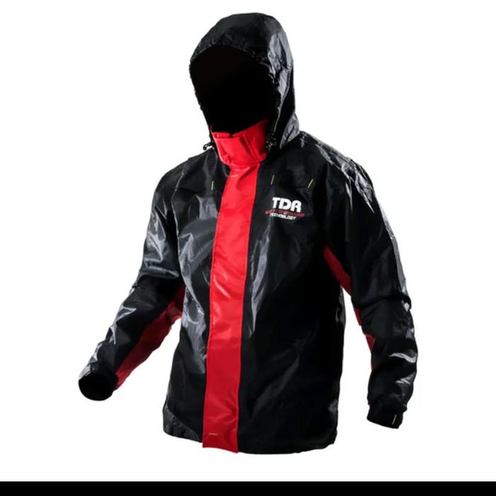 harga Jas hujan tdr warna hitam - merah Tokopedia.com