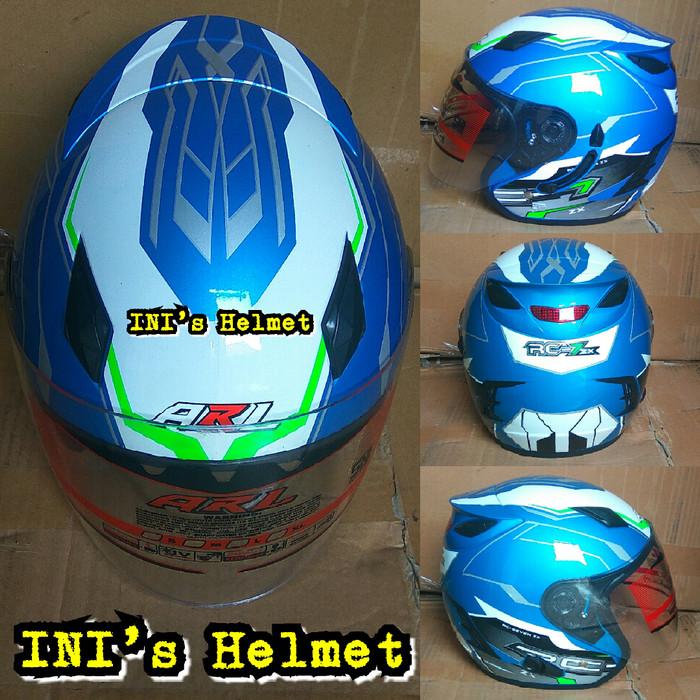 Helmet SNI Half Face Double Visor ARL centro not KYT NHK MDS EVO AGV