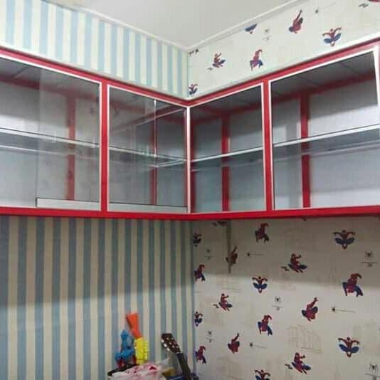 Jual Minimalis Lemari Dapur Kitchen Set Aluminium Minimalis Putih Kota Semarang Perlengkapan Dapur Tokopedia