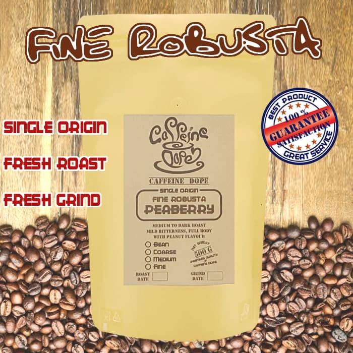 Kopi peaberry / lanang 500 gr -fine robusta- bean/biji & ground/bubuk