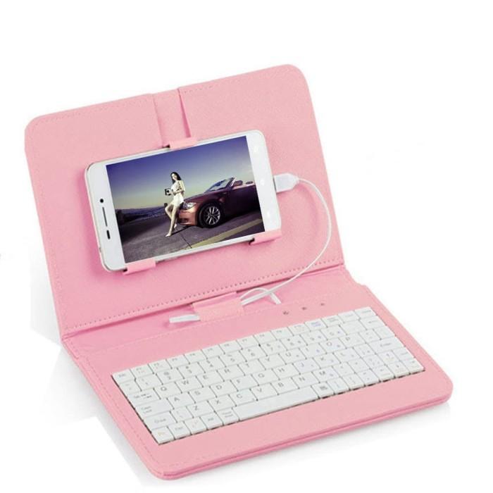 Jual Flip Case Dengan Keyboard Kabel Mini Untuk Smartphone Android