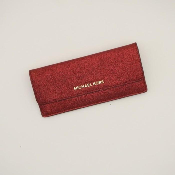 630838b1db55ef Jual Michael Kors Flat Ladies Wallet Cranberry / Dompet MK Perempuan ...