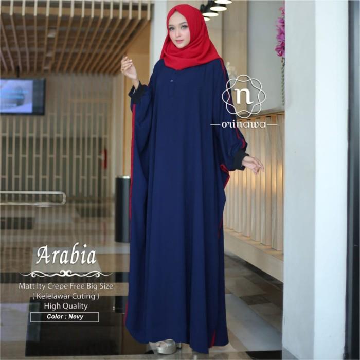 Foto Produk Gamis Arabia Abaya Crepe ITY LD Free Big Size PJ 140 by Orinawa dari RasClothingCollection