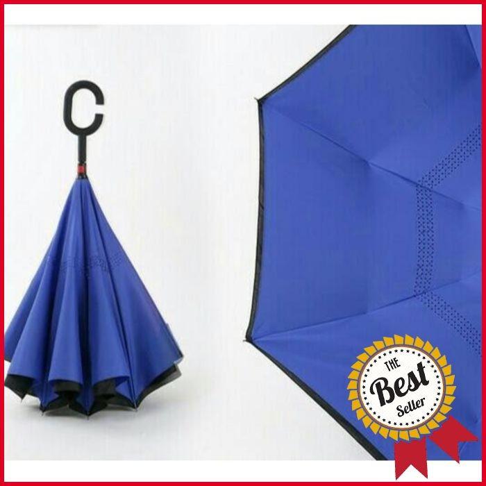 Kazbrella Payung Terbalik Gagang C Reverse Umbrella Payung Modern