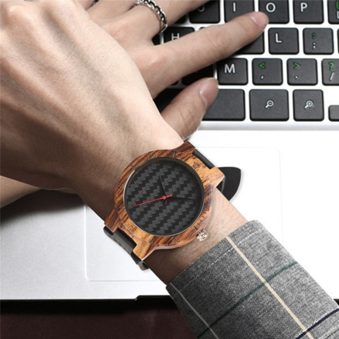 Folk Style Bamboo Watch Handmade Scrub Weave Dial Leather Band Men Women Quartz Wristwatch Nature Concise Clock Hour Relogio Watches