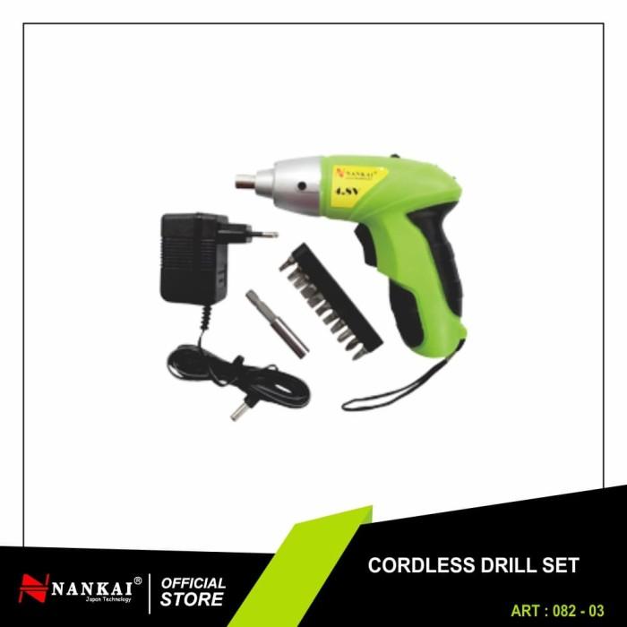 Foto Produk Obeng Tangan Elektrik + Charger / Cordless Screwdriver Nankai dari Nankai Tools