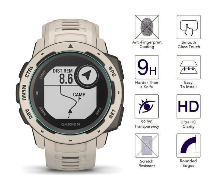 Foto Produk Tempered Glass Samsung Galaxy Watch 42mm / Gear Sport/ Garmin Instinct dari JM Cell Surabaya