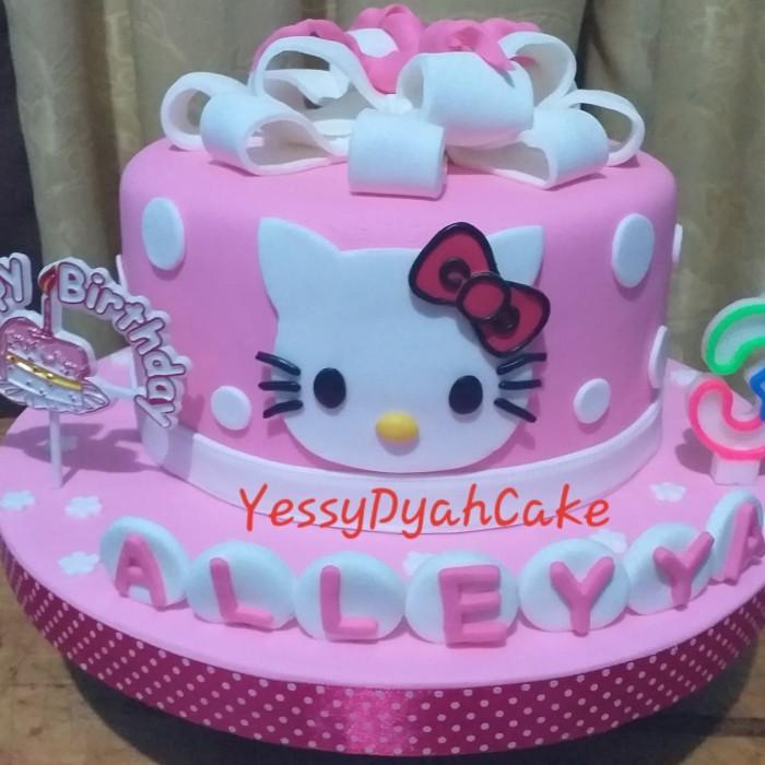 Jual Kue Ulang Tahun Hello Kitty Fondant Kota Tangerang Varians Store Tokopedia