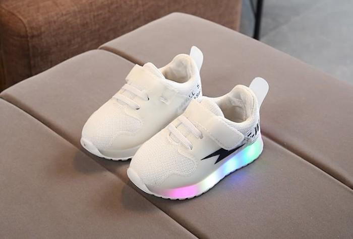 Jual Sepatu Sneakers Anak Perempuan Laki Laki Led Sepatu Casual Anak 27 Merah Muda Mydress Tokopedia