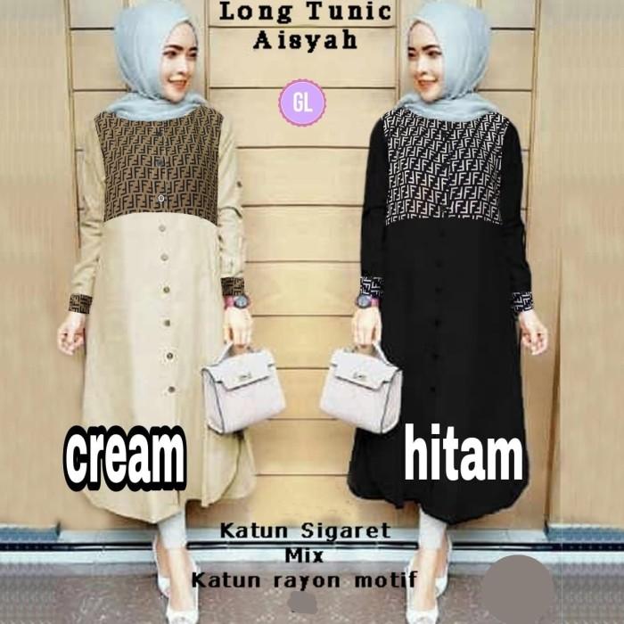 Atasan Wanita Muslim - Baju Tunik Muslim Long Tunic Aisyah - Dzikri ... 897feb5f0e