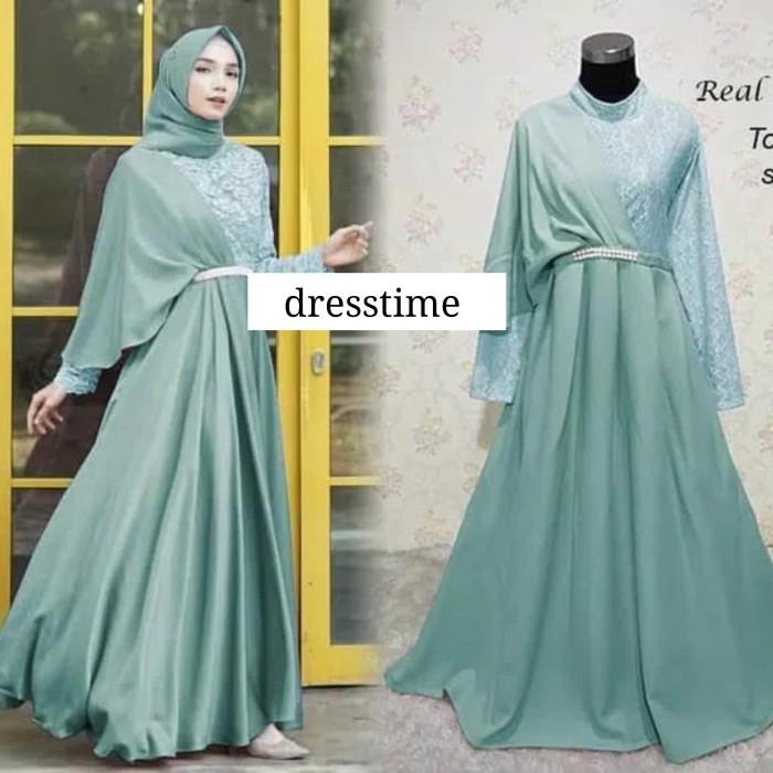 Jual 545 Gamis Brukat Baju Muslim Maxi Dress Gaun Pesta Mewah