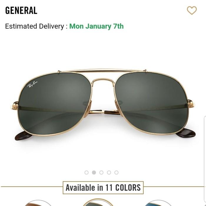 harga Original ray ban general 3561 001 Tokopedia.com